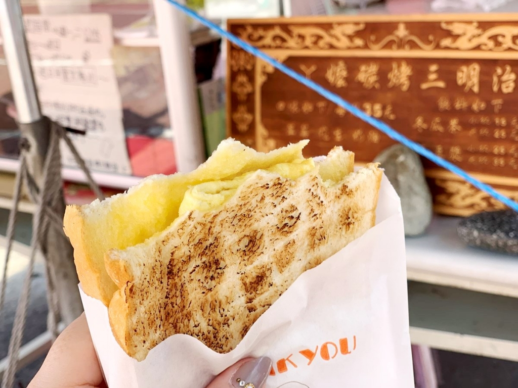 【2019年4月台湾1人旅㉗】シンプルなのに衝撃の美味しさ!台南『阿嬤手工碳烤三明治』の炭焼きサンドイッチ