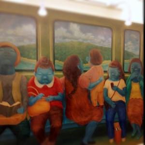 アバター電車に乗る