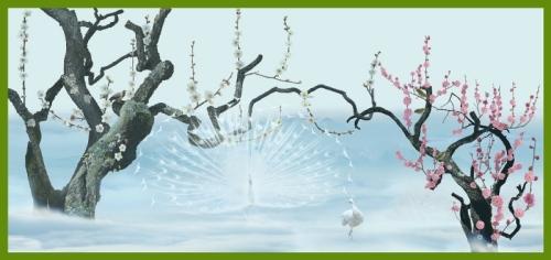 風景曼荼羅「紅白梅図」