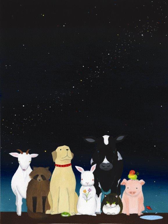 飼い主の心を癒し、現実を伝える絵画展『震災で消えた小さな命展』開催
