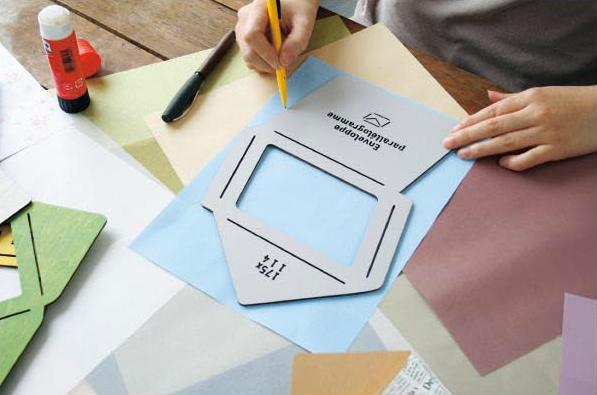 お気に入りの紙でエコ封筒を作ろう! カラフルでオシャレな木製の封筒テンプレート