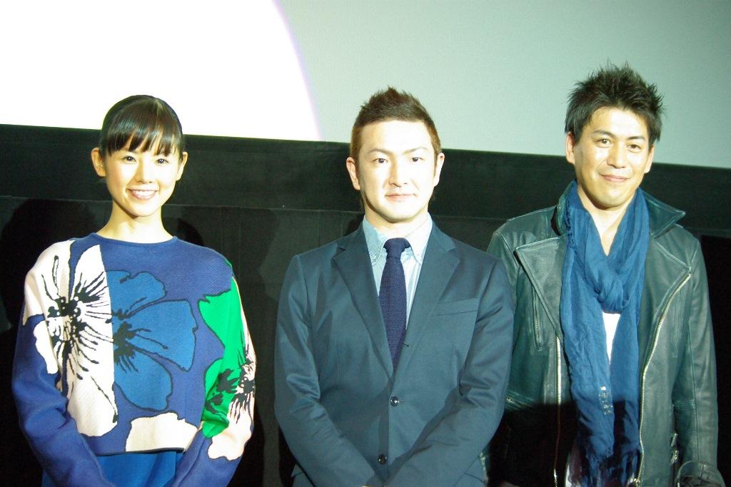 世界中が涙したパラパラ漫画が実写化。映画『振り子』舞台挨拶付き先行上映会に中村獅童、小西真奈美が登壇!