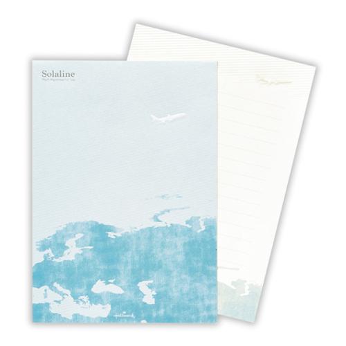 「Solaline(飛行機)」 レターパッド(1柄10枚・734円)
