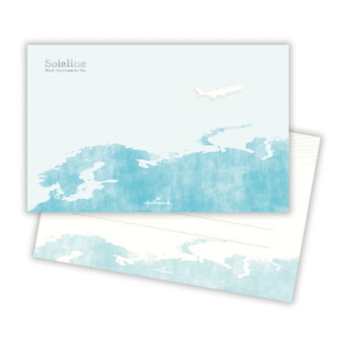 「Solaline(飛行機)」一筆箋(1柄12枚・454円)