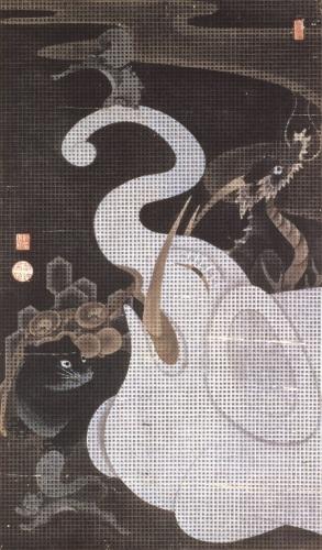 伊藤若冲筆 「白象群獣図」 個人蔵  展示期間:7月22日(水)~8月9日(日)