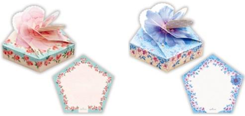 「オハナバコメモ」(左:バラ、右:アネモネ/計6種・各120枚入・540円)