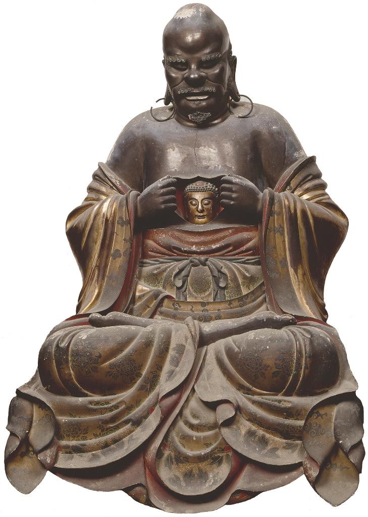 十八羅漢像のうち「羅怙羅尊者」 范道生作 江戸時代 寛文4年(1664) 京都・萬福寺 通期展示