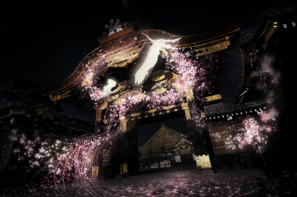 """『二条城』初!3/24(金)~4/16(日)、新感覚の""""お花見体験""""「二条城桜まつり2017ー桜の宴ー Directed by NAKED」開催"""