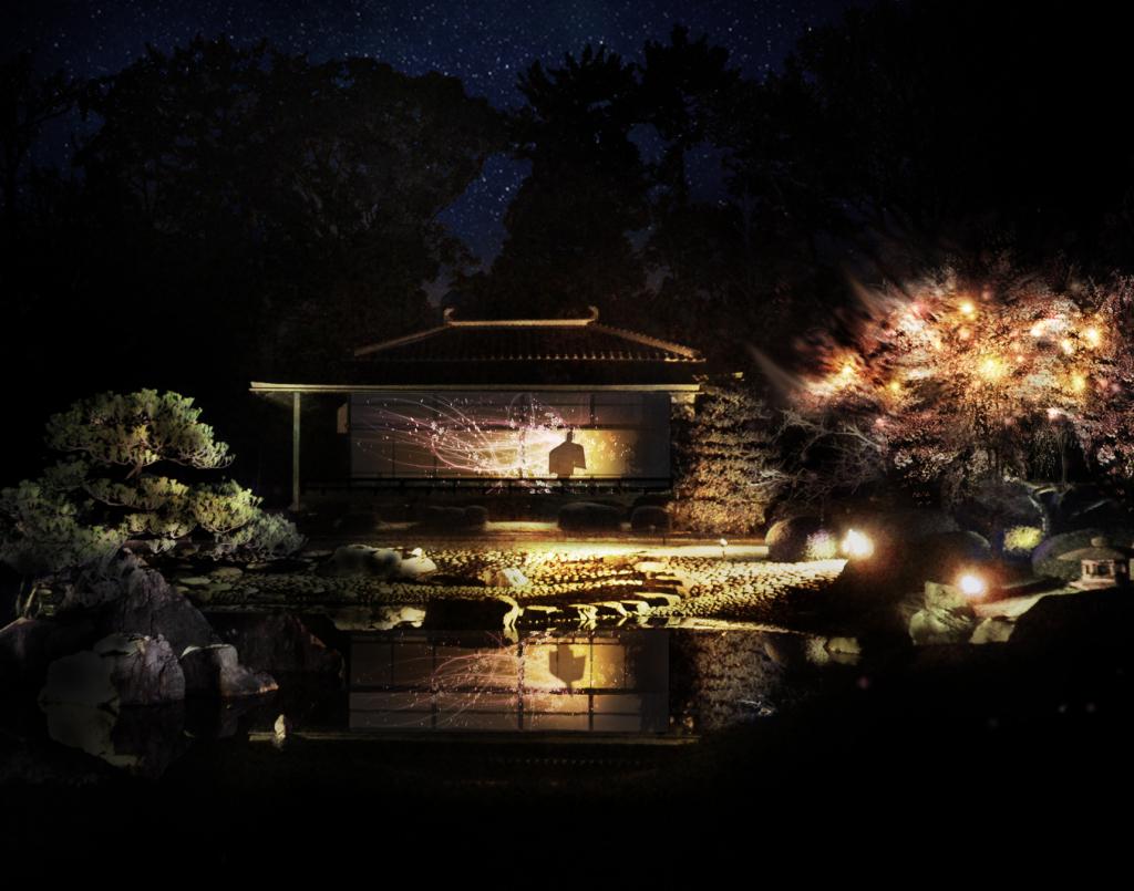 「香雲亭」投影イメージ