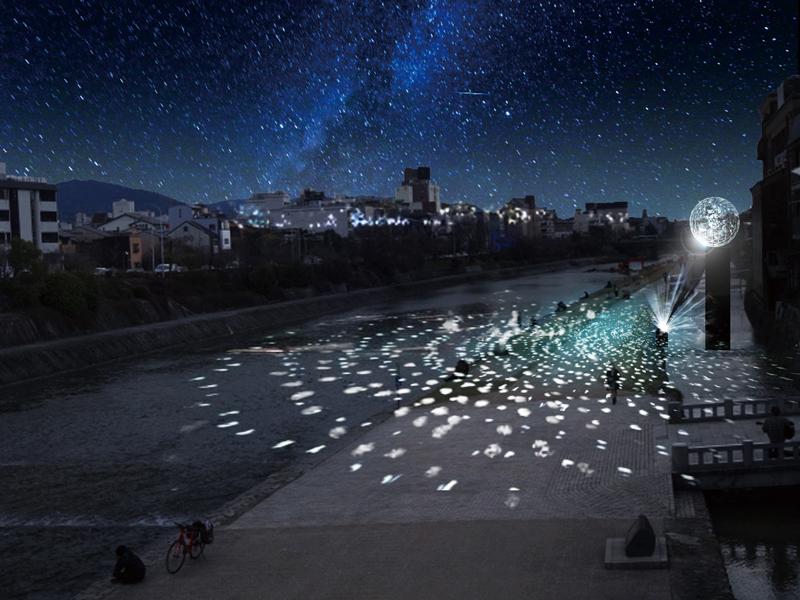 鴨川会場 体験型照明インスタレーション