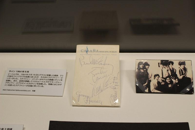 ビートルズ展 直筆サイン
