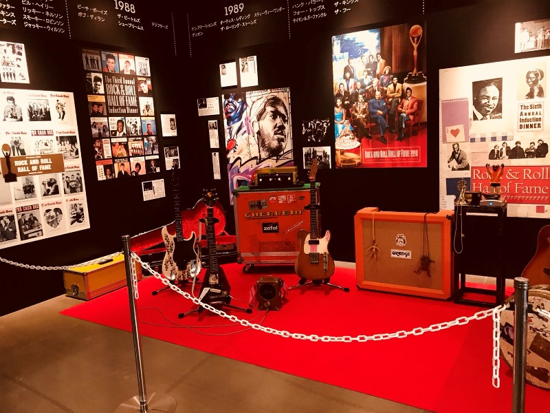忌野清志郎展 ギターやアンプなどの楽器類
