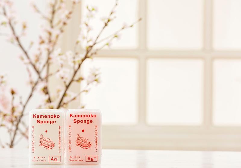 テーマは「桜」。抗菌効果・機能性・デザイン性に優れたメイドインジャパンのスポンジ「亀の子スポンジ」に春の新色が登場