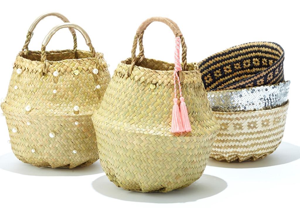 『Hansry』の「シーグラス(水草)バッグ」は、ベトナム人が昔から農作業などに使ってきた、乾燥させたシーグラスを編んだかごを日本人デザイナーがアレンジしたもの。