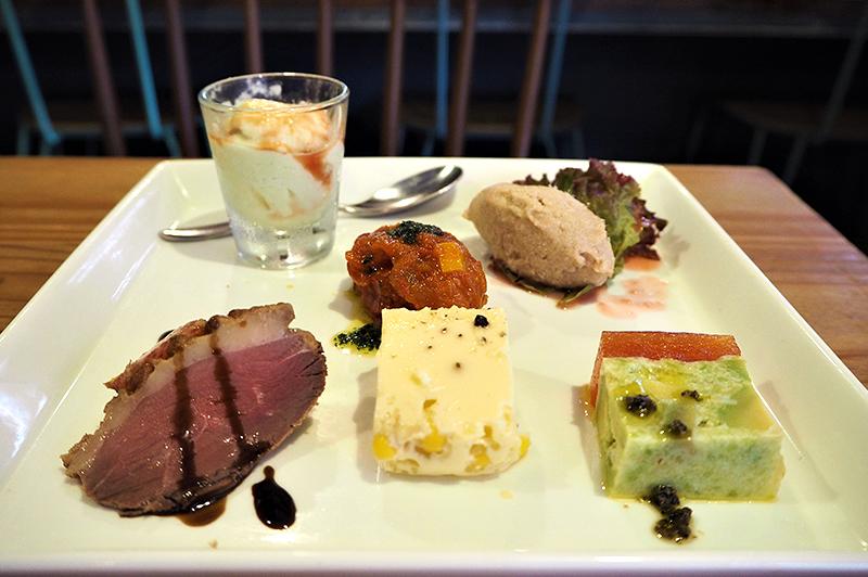 ディナーのオードブル5種