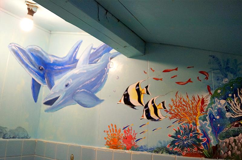 イルカのイラストのトイレ