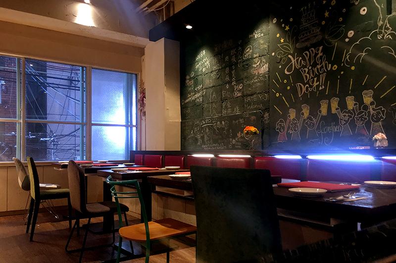 肉ビストロ フォーギブンの黒板
