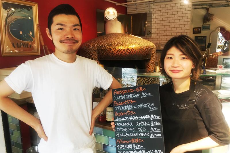 LA PIZZA D'ORO(ラ・ピッツァ ドォーロ)のオーナー・藤井さんとスタッフ