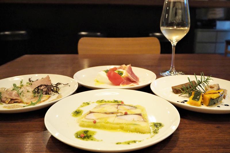 食堂Tavolinoのシェフにおまかせ前菜4皿