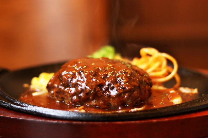 カフェ レスト フジワラのハンバーグ
