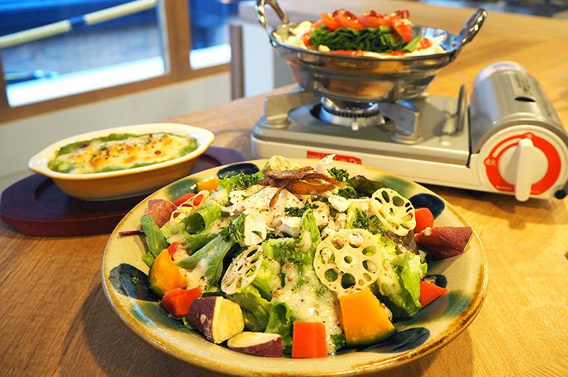 野菜たっぷりな料理