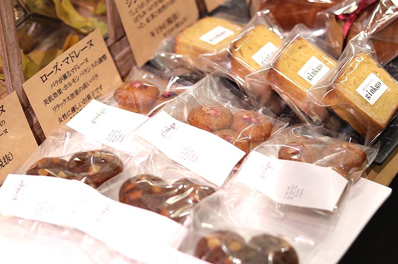 ローズマドレーヌほか、2種の焼き菓子
