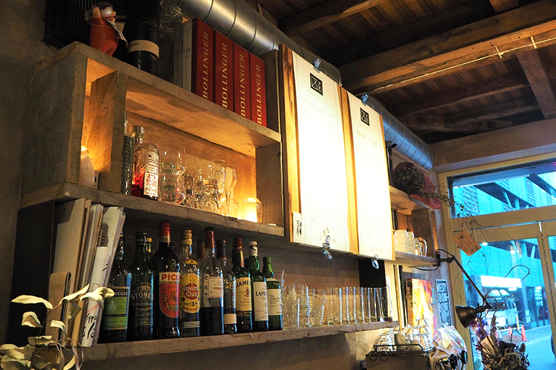 ワイン・ウイスキー棚