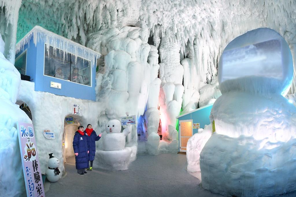 『北海道アイスパビリオン』見学+雪だるまとかまくらの里セット+ポストカード 割引