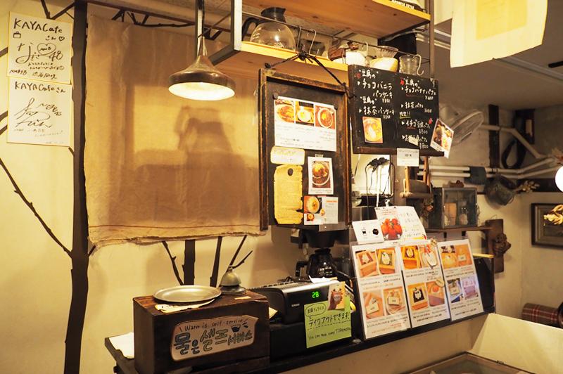 KAYA cafeのレジ