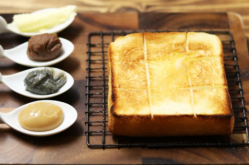 極生食パンとジャパニーズジャム3種