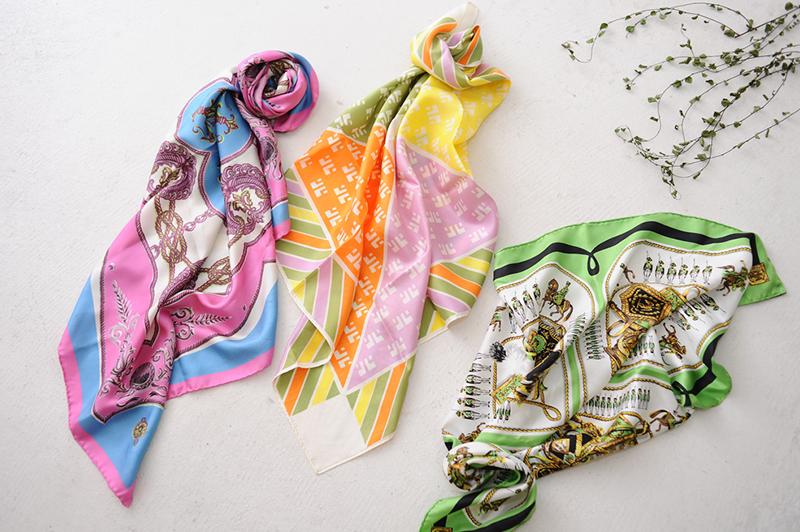 スカーフを上手く使いこなしたい!春のきれいめコーデは首とバッグから始めて