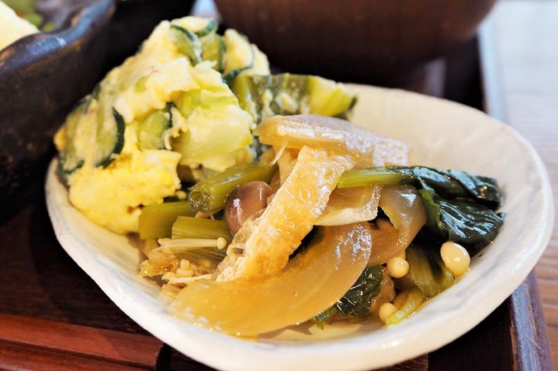 青菜入りポテトサラダ
