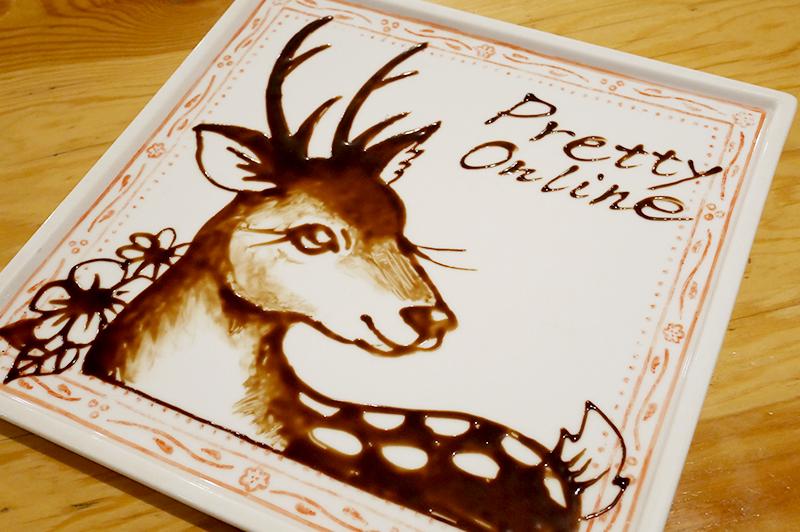 鹿のアート