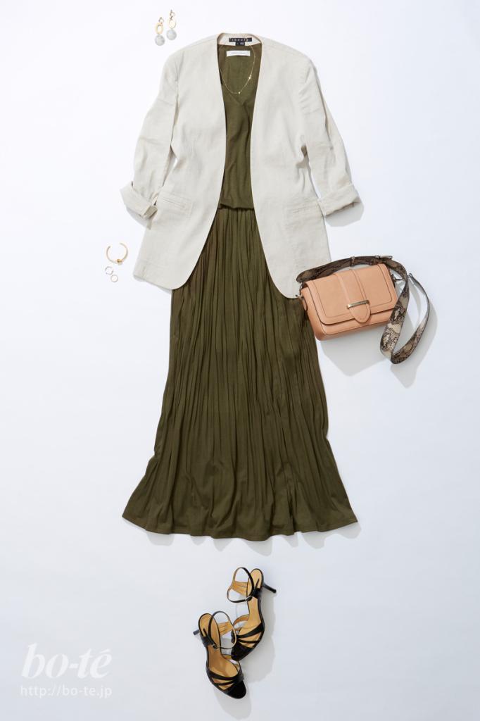 ジャケット+ゆるワンピース