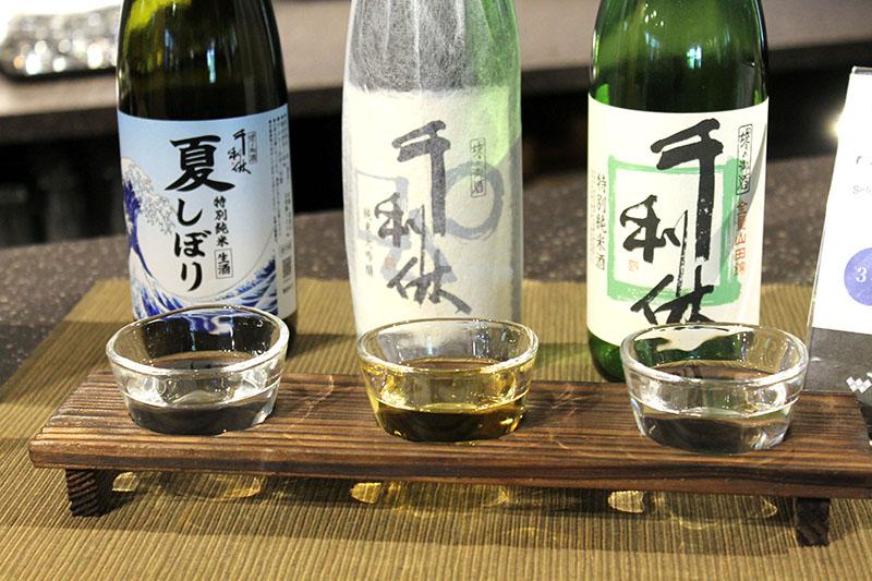 全36銘柄から選べる「利き酒」(500円)