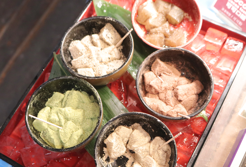 色々な味のわらび餅