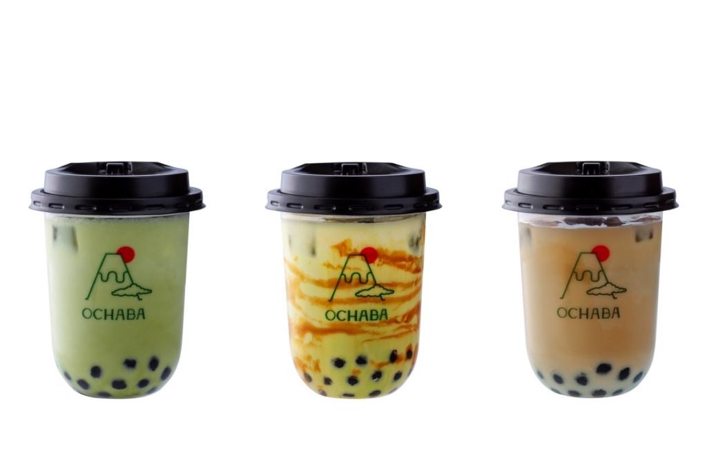 左から「緑茶ロイヤルミルクティー」(580円)、「玄米茶ロイヤルミルクティー」(550円)、「ほうじ茶ロイヤルミルクティー」(580円)