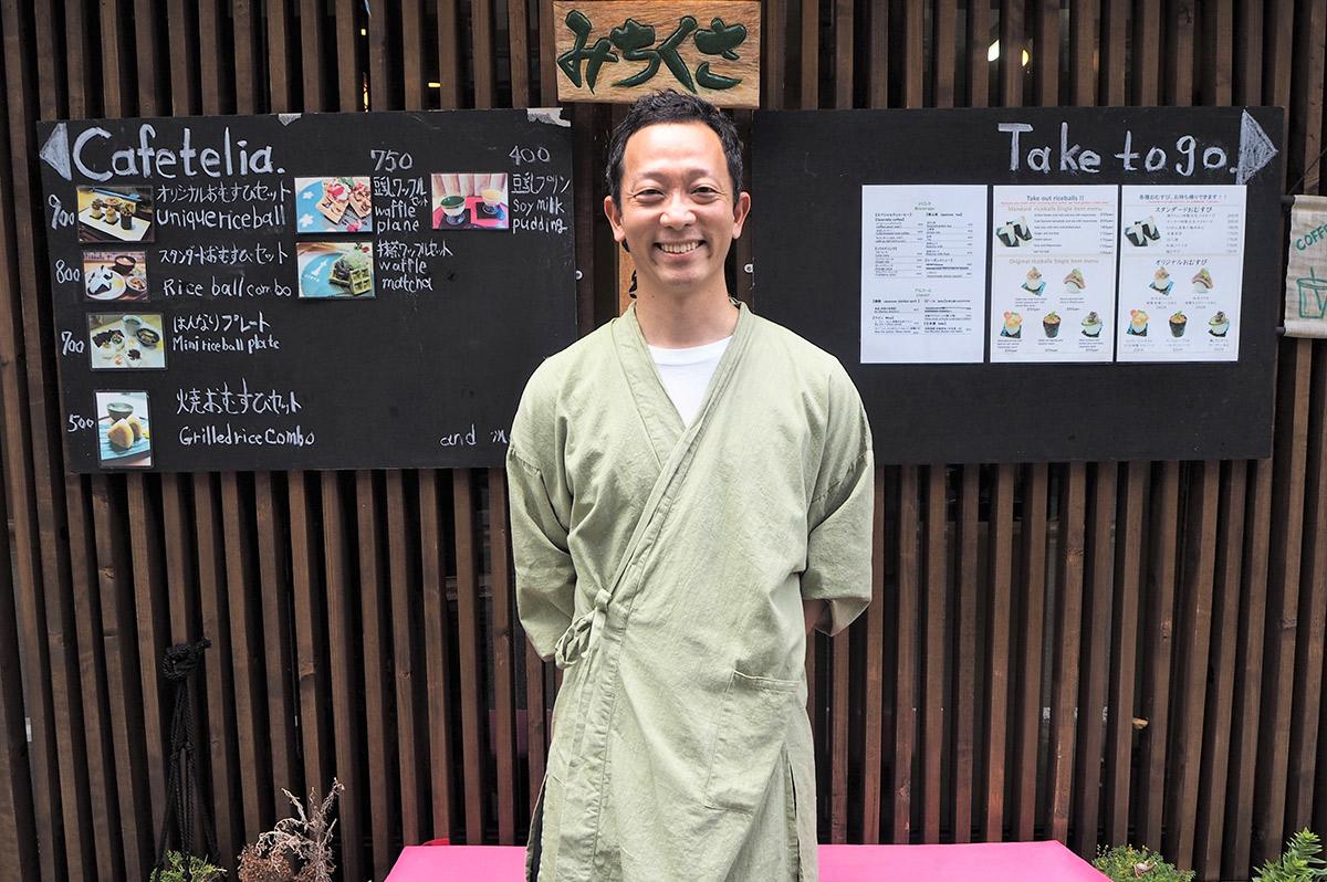 ニコニコ笑顔が印象的な店主・赤松さん