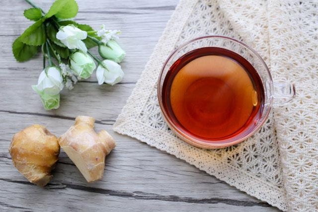 生姜と温茶