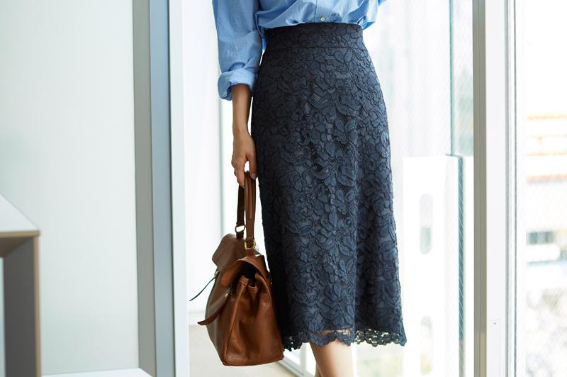 甘すぎない《レーススカート》がオフィスに素敵!秋の大人コーデ5選