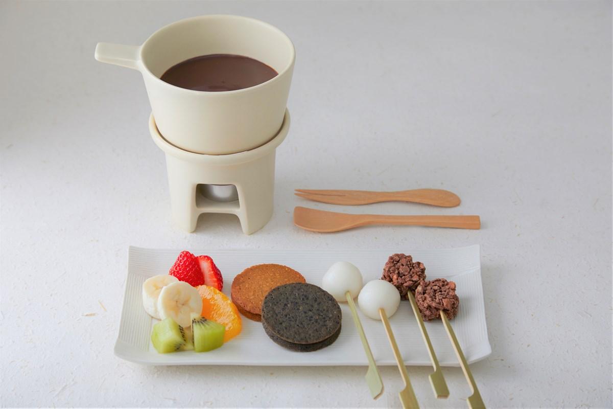 「ショコラフォンデュ」(ショコラ/抹茶ショコラ 単品1,430円、ドリンクセット1,760円)