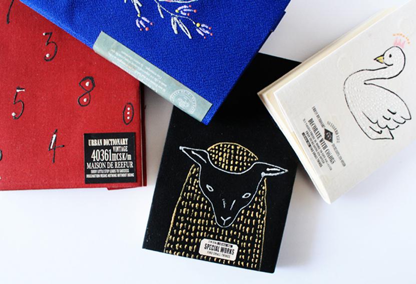 【連載】刺繍のように描ける絵の具「ステッチカラー」を使って、刺繍風ブックカバーを作ろう!