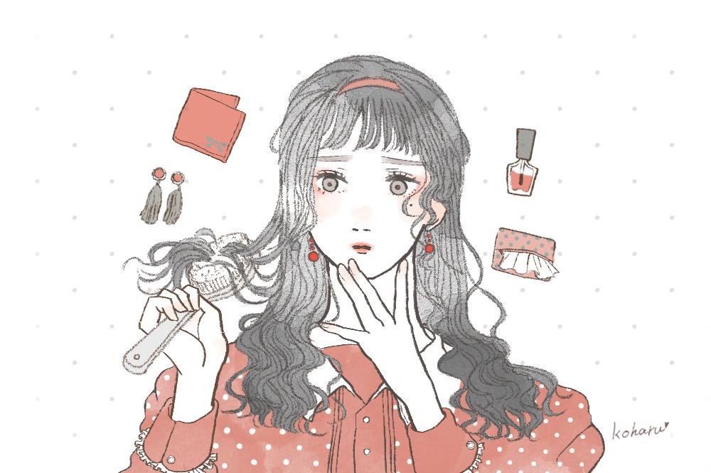 髪をとく女の子