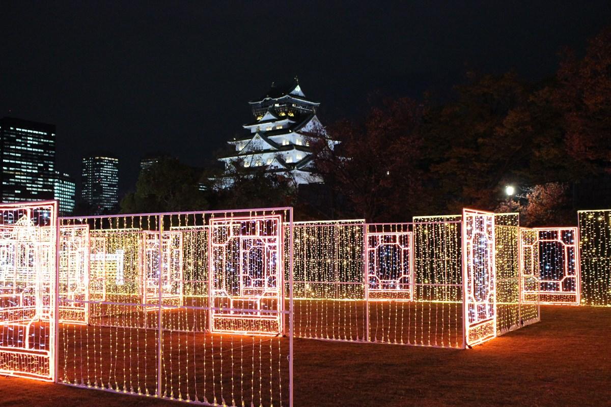 100年前の大阪へタイムスリップ?『大阪城西の丸庭園』でイルミネーションイベント「大阪城イルミナージュ 大正浪漫の世界」期間限定開催