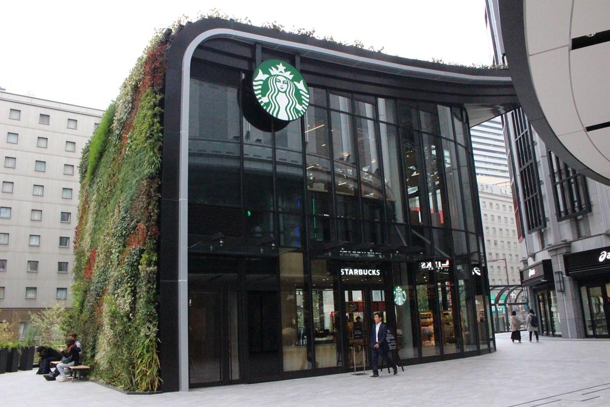 """【梅田】大阪のど真ん中に""""森""""!?『スターバックス コーヒー LINKS UMEDA 2階店』で癒…"""