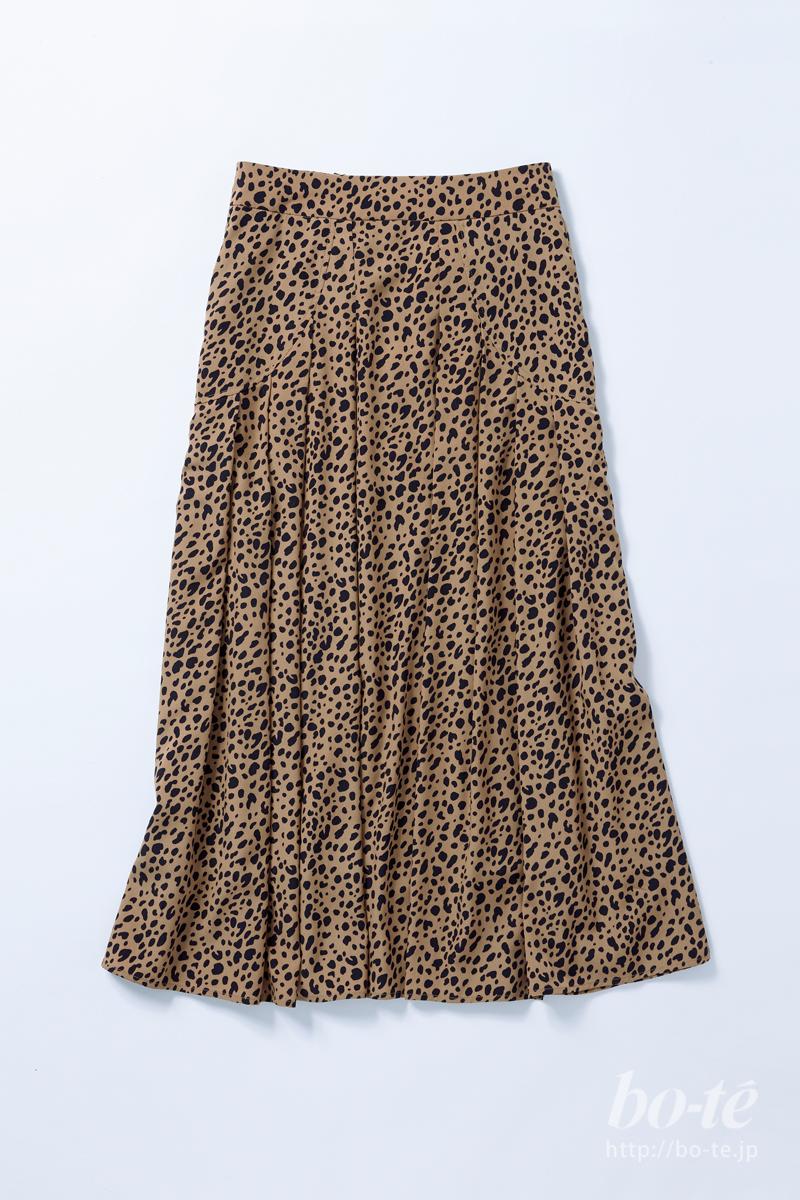 カプリシュレマージュのレオパードロングスカート