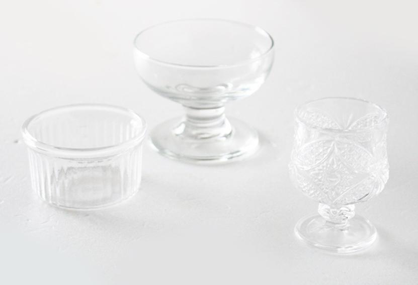 セリアのガラス容器(耐熱)