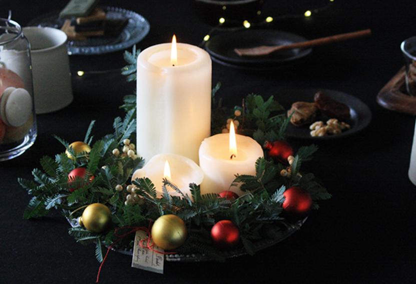 【連載】手作り雑貨でクリスマス!簡単DIYでつくる「キャンドル&リース」をご紹介!