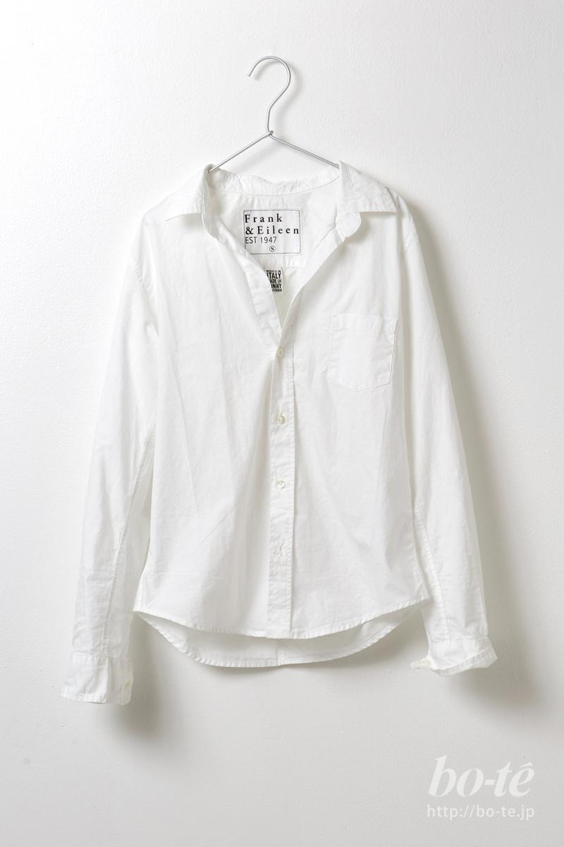 こなれて着こなしたいなら白シャツは着丈に注目したい