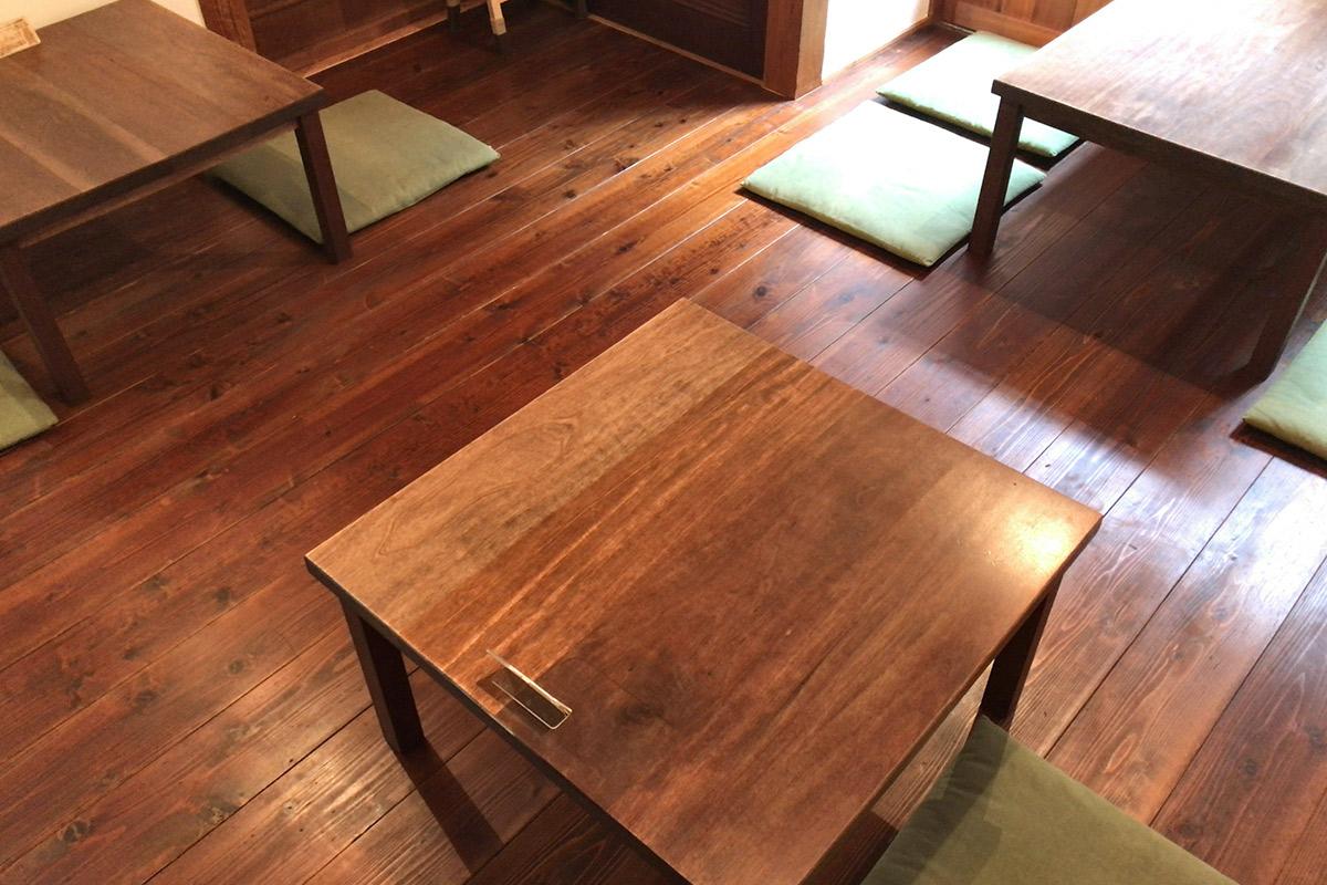 3つのテーブル席